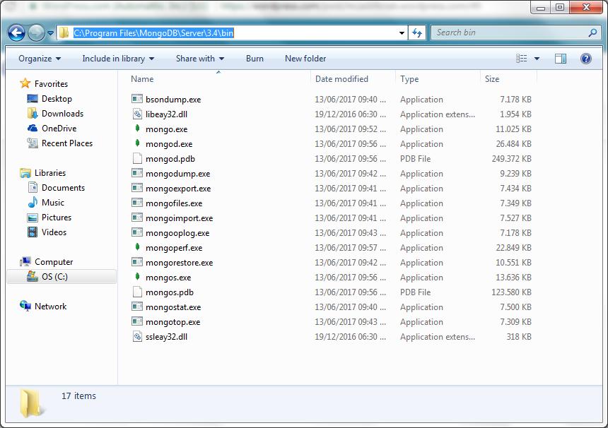 MongoDBFolder